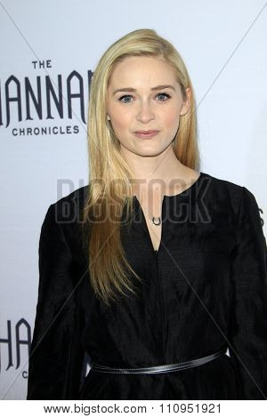 LOS ANGELES - DEC 4:  Greer Grammer at the he Shannara Chronicles at the iPic Theaters on December 4, 2015 in Los Angeles, CA