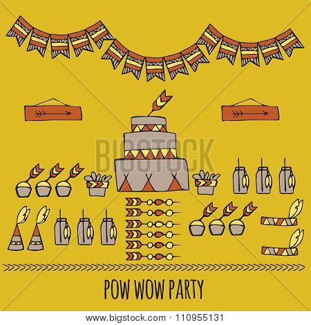 Pow Wow. Indian Party
