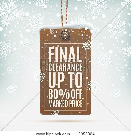 Final clearance. Realistic, vintage price tag.