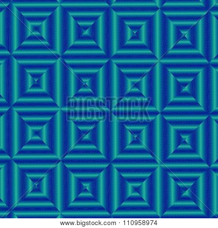 Abstract blue background. Old style effect. Blue toned image. Modular, old vintage wall paper.