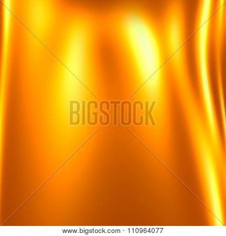 Iridescent yellow background. Warm color back. Unique visual art. Yellow fire flame.