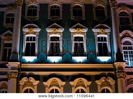 Wall Of Palace At Night
