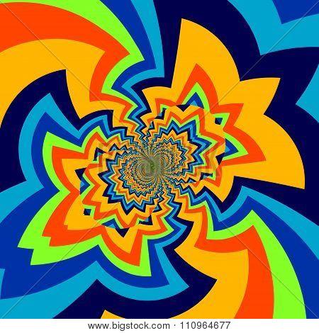 Infinite abstract art illustration. Pic of big bang. Odd shaped lines. Full frame design.