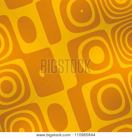 Abstract yellow shapes background. Yellow color tone. Weird visual arts. Modern digital art.
