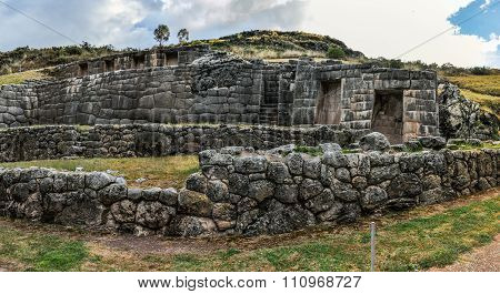 View Of The Ruins Of The Tambomachay In Cusco, Peru
