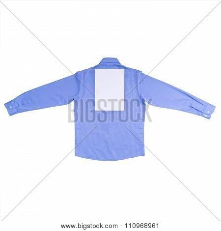 Blue Shirt Isolated On White Background