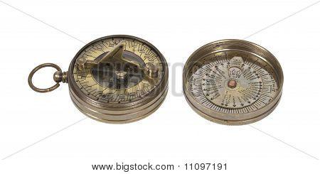Pocket Brass Sundial