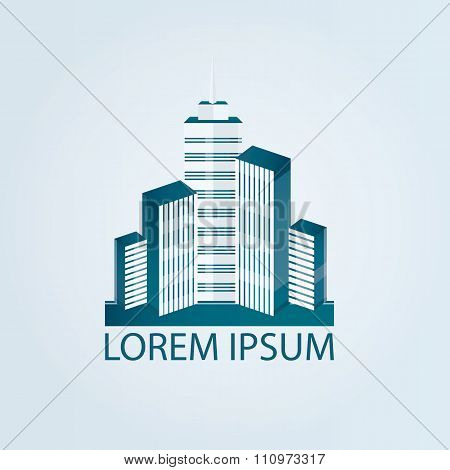 Modern Vector Illustration Of City, Architecture Urban Building
