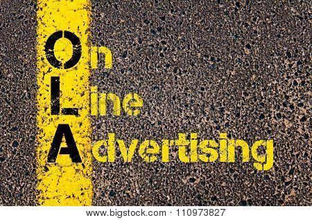 Advertising Business Acronym Ola On Line Advertising