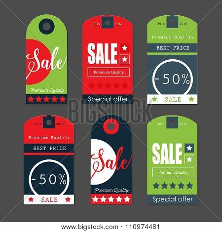 Sale Tags With Sale Messages