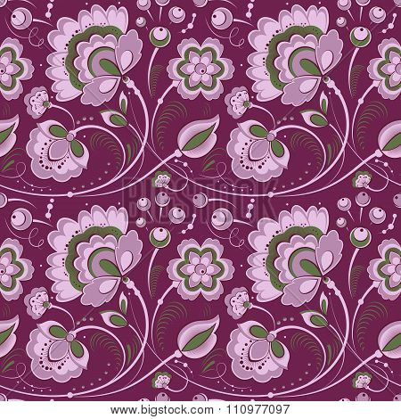 Floral Seamless Pattern In Slavonic Style