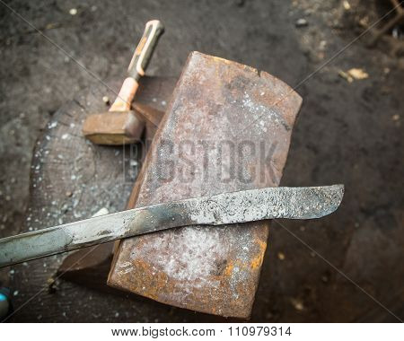 Handmade knives and knife preforms smithing new zealand