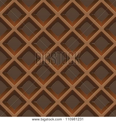 Chocolate Wafer Seamless Vector Pattern