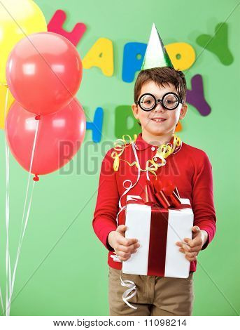 Boy With Giftbox