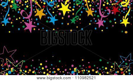 Colorful Background stars at night