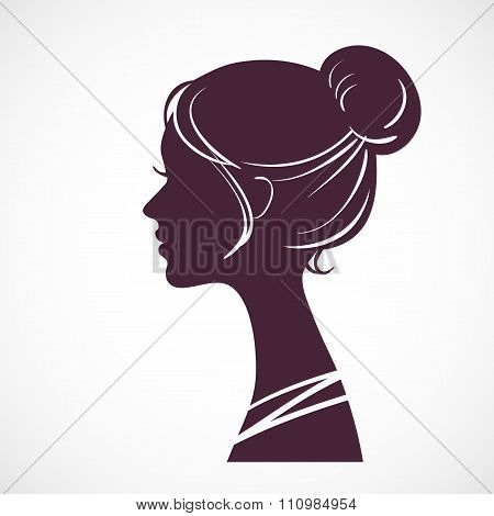 Women silhouette head