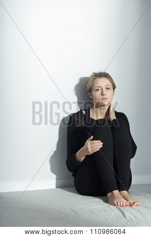 Anorexic Girl With Depression