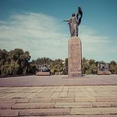 Monument to the Fighters of the Revolution.Kyrgyzstan. poster