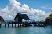 Khao Phing Kan Island Pier near Tapu Island (popularly called James Bond Island). Tapu Island at Phang Nga Bay near Krabi and Phuket. Thailand. poster