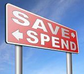 save for later plan ahead saving money in piggy bank savings now and spend later after crisis poster