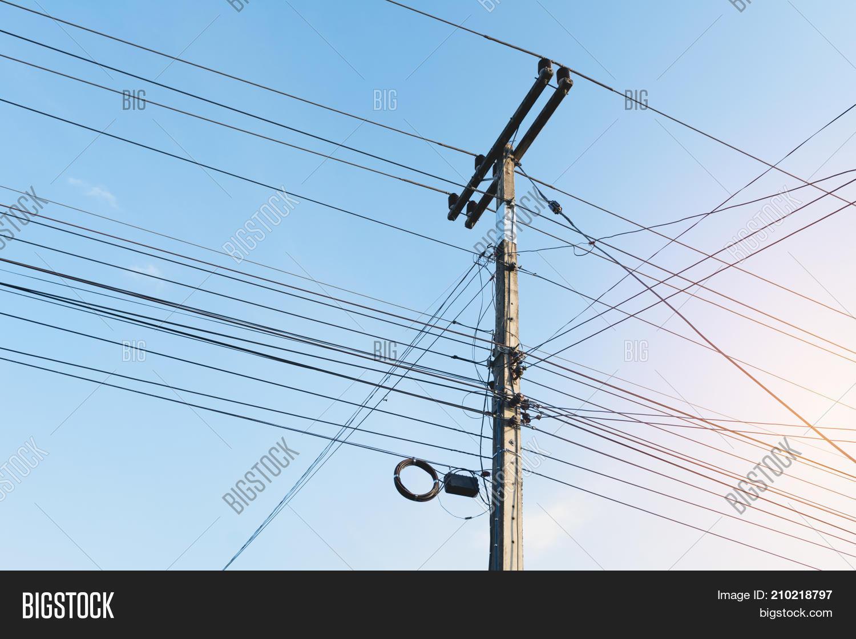Electric Pole Black Image & Photo (Free Trial) | Bigstock