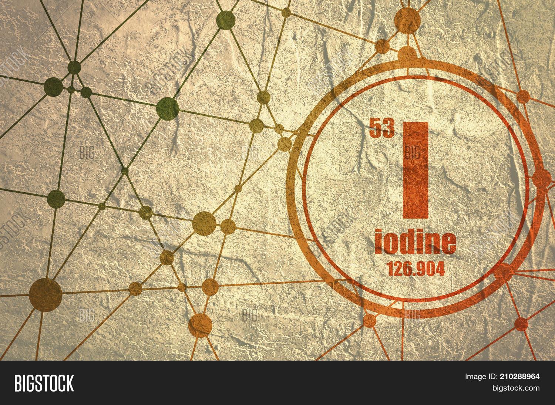 Iodine chemical element sign image photo bigstock iodine chemical element sign with atomic number and atomic weight chemical element of periodic urtaz Choice Image