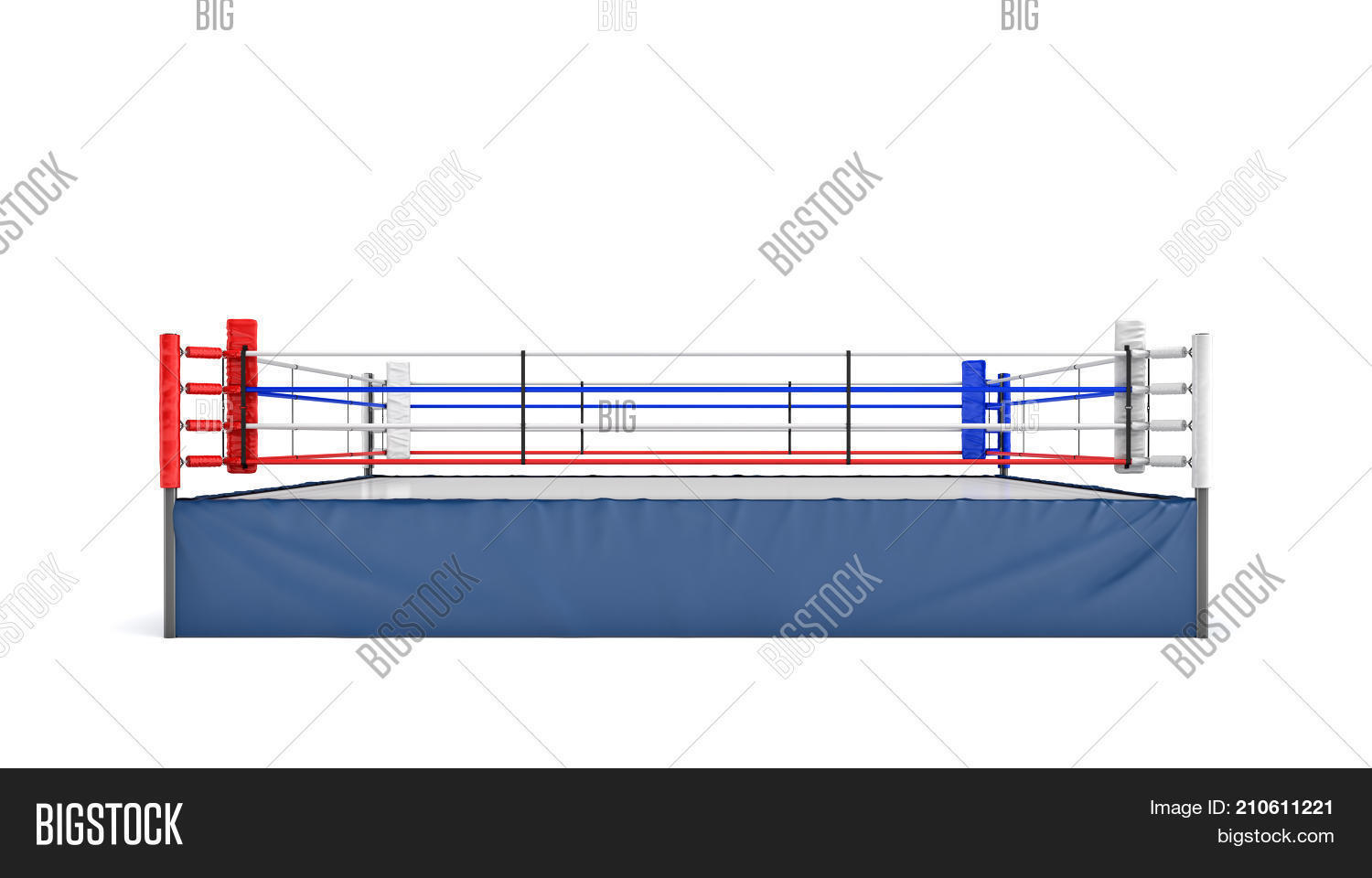 3d rendering empty image photo free trial bigstock 3d rendering of an empty boxing ring in front view isolated on white background professional ccuart Images