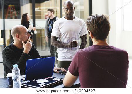 Start up Business Team Brainstorming on  Meeting Workshop