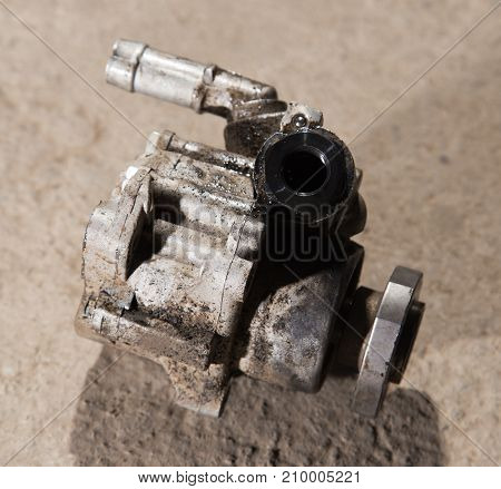 Vehicle hydraulic pump . photo in the studio