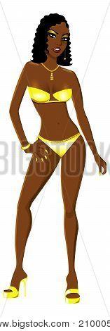 Yellow Swimsuit Girl