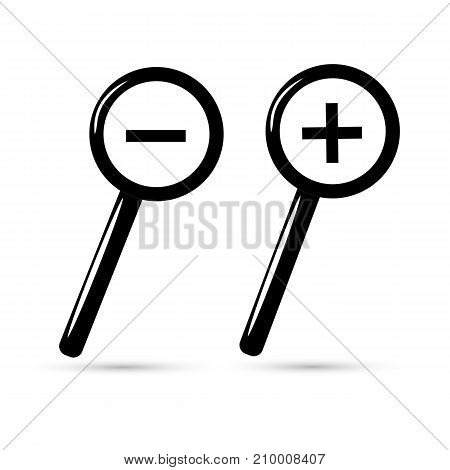 Magnifying glass isolated. Vector illustration for your design