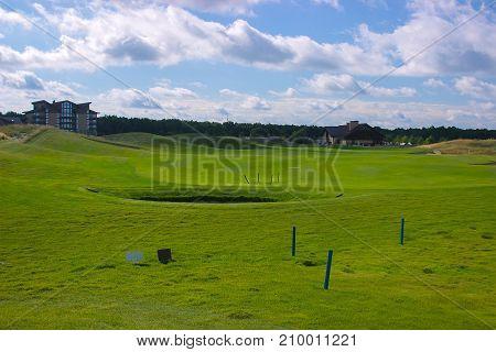 Golf Field Near The Forest