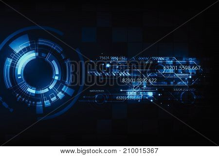 Vector in technology concept on a dark blue background.