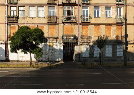 Residential underground area in Warsaw.