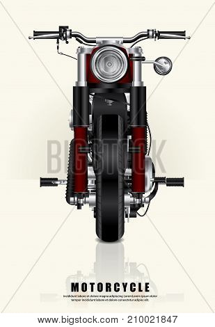 Poster Template Design Chopper Motorcycle isolated Vector Illustration