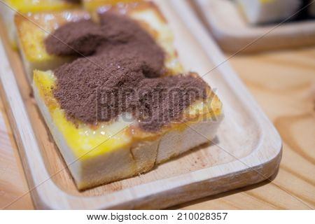 Bread With Butter Dressing Chocolate Powder