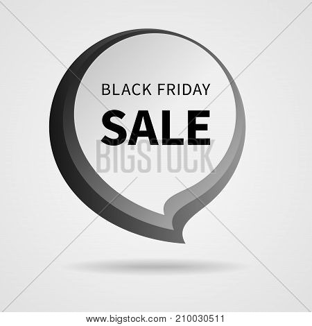 Black Friday Sale Tag Isolated Vector Illustration. Discount Offer Price Label. Vector Price Discount Symbol