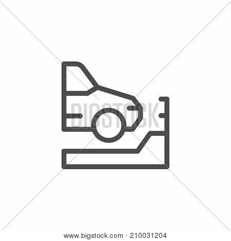 Parking line icon isolated on white. Vector illustration