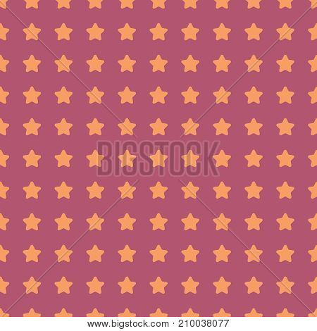 Nice cartoon star pattern with different stars icons on dark background. Original vector pattern for textile, web etc.
