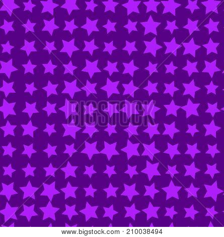 Nice cartoon star pattern with different stars icons on light background. Original vector pattern for textile, web etc.
