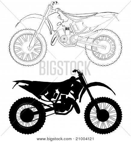 Motocross Bike Vector