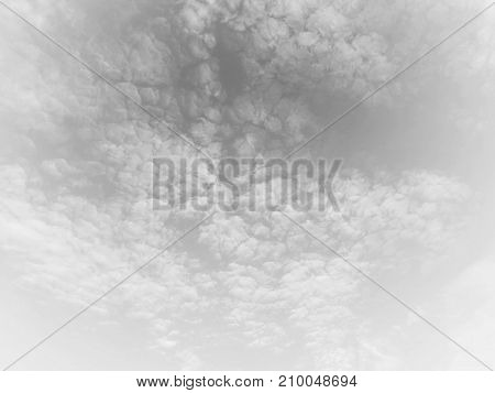Abstract soft tone of sky and cloud background. Fade and sadness tone.