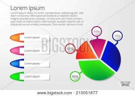 Business infographics circle and banners vector illustration. can be used for workflow layout and for modern business or web design. EPS10