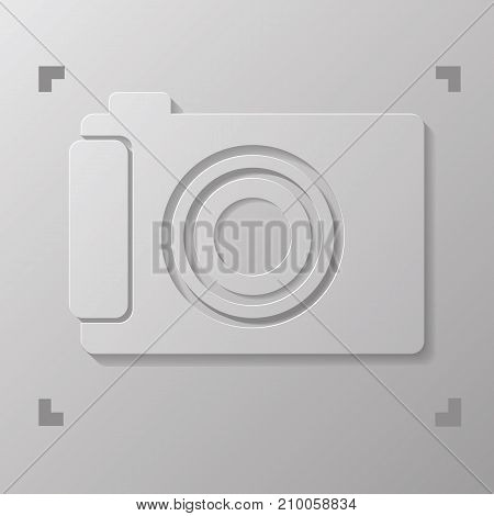 illustration with digital camera isolated on white background