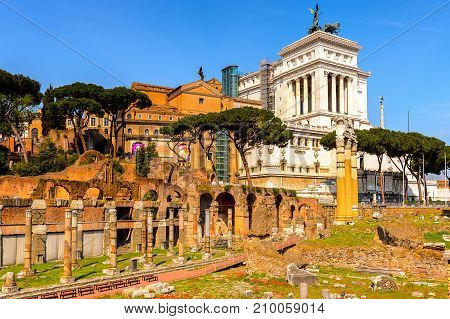 Architecture Of The Historic Center Of Rome, Italy.