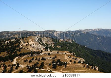 Beautiful Crimean Mountain Panoramic Landscape