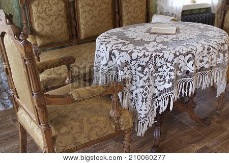 Table and chairs in the early twentieth-century style Russia