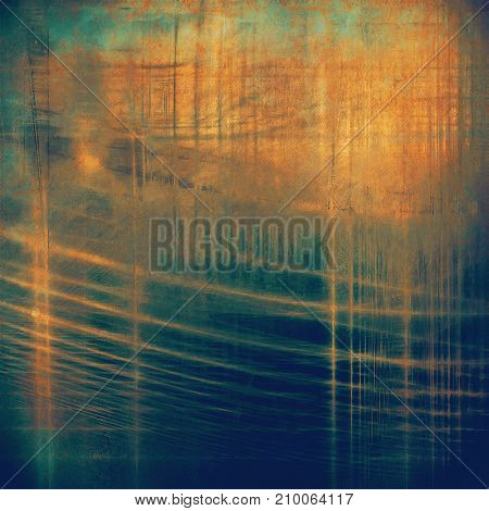 Highly detailed scratched texture, aged grungy background. Vintage style composition with different color patterns