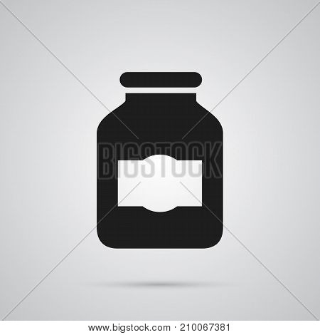 Isolated Jug Icon Symbol On Clean Background.