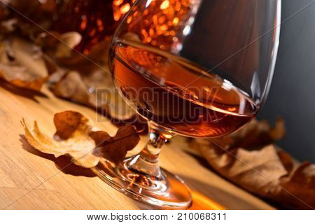 Brandy And Dried Up Oak Leaves .